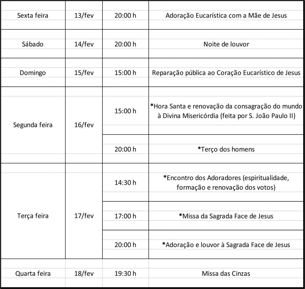 tabela prog carnaval 2015